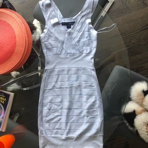 Light blue bandage dress by French connection